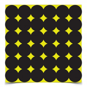 SHOOT•N•C® SELF-ADHESIVE TARGETS - 12 SHEETS, 432 TARGETS