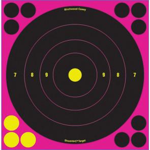 """SHOOT N C 8"""" BULL'S-EYE PINK REACTIVE TARGETS - 6 TARGETS"""