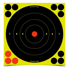 "SHOOT•N•C ® SELF-ADHESIVE TARGETS - 8"" BULL'S-EYE PACK"
