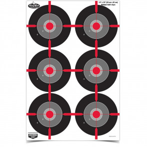 DIRTY BIRD PAPER TARGETS - HIGH VISIBILITY - RED - 8 PACK