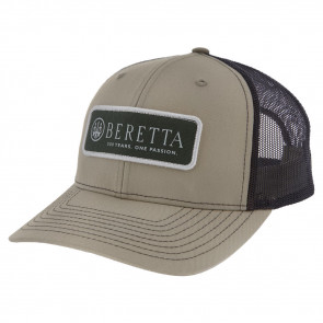HERITAGE 112 TRUCKER HAT - MEN'S, KHAKI AND COFFEE, FITS ALL