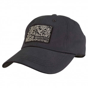 BERETTA ENGRAVED COTTON TWILL HAT - DARK NAVY