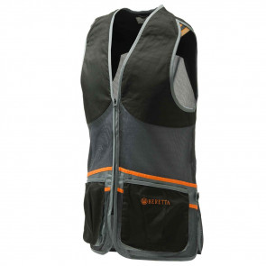 FULL MESH VEST BLACK GREY XS