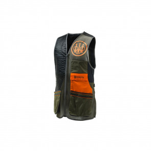 TWO TONE SPORTING VEST GREEN BLK/ORG S