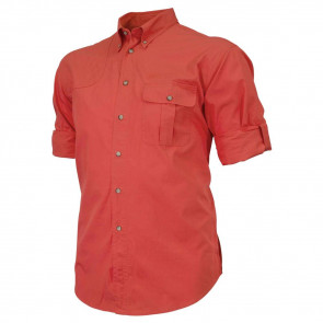 TM ROLL UP SHIRT - RED, 2X-LARGE
