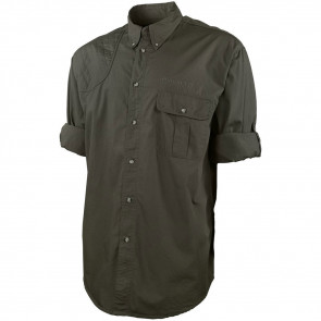 TM ROLL UP SHIRT - GREEN OLIVE, SMALL