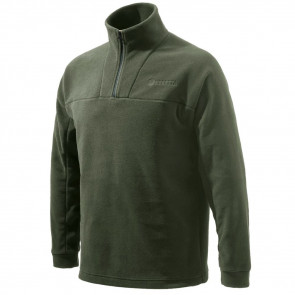 HALF ZIP FLEECE SWEATER - GREEN - 2X-LARGE