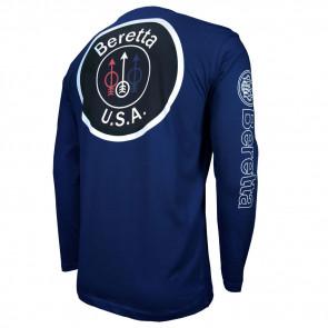 USA LOGO T-SHIRT L/S BLUE NAVY M