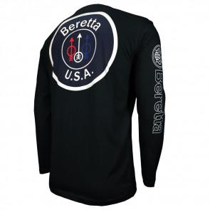 USA LOGO T-SHIRT L/S BLACK M