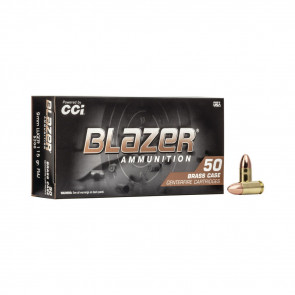 BLAZER BRASS 9MM, 115 GRAIN, FMJ