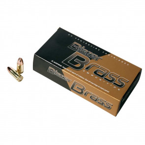 BLAZER BRASS 9MM, 124 GRAIN, FMJ