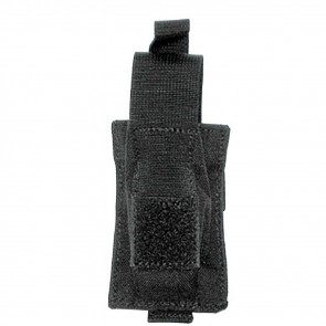 SINGLE PISTOL MAG POUCH WITH TALON FLEX - BLACK