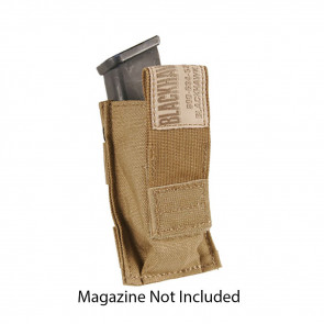 SINGLE PISTOL MAG POUCH WITH TALON FLEX - COYOTE TAN