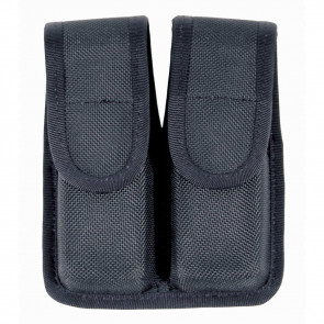 DOUBLE MAG POUCH (SINGLE ROW) CORDURA - BLACK, 9MM/.40 CAL/.45 CAL
