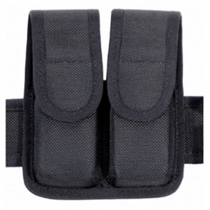 DOUBLE MAG POUCH (DOUBLE ROW) CORDURA - BLACK, 9MM/.40 CAL/.45 CAL