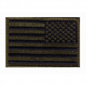 PATCH US FLAG SUBDUED REV OD GRN