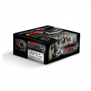 PERSONAL AND HOME DEFENSE AMMUNITION - 45 AUTO +P - 185GR - 20/BX