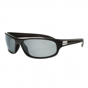 ANACONDA SUNGLASSES, SHINY BLACK FRAME, POLARIZED GREY LENS