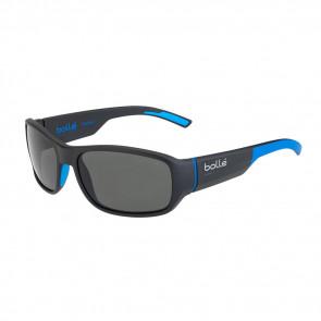 HERON SUNGLASSES - MATTE BLACK/BLUE FRAME - POLARIZED TNS OLEO AR LENS