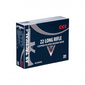 AR TACTICAL  - .22LR, COPPER PLATED ROUND NOSE, 40GR, 300RD/BX