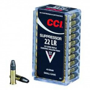 SUPPRESSOR .22LR, 45GR, LEAD HOLLOW POINT, 50 RDS/BOX