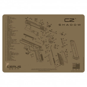 CZ SHADOW 2 SCHEMATIC HANDGUN PROMAT - COYOTE TAN