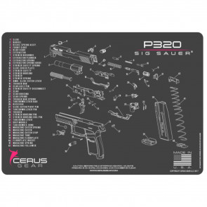 SIG SAUER P320 SCHEMATIC HANDGUN PROMAT - CHARCOAL GRAY/PINK