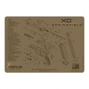 SPRINGFIELD XD SCHEMATIC PROMAT - COYOTE TAN