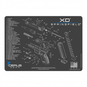SPRINGFIELD XD SCHEMATIC PROMAT - CHARCOAL GRAY/CERUS BLUE