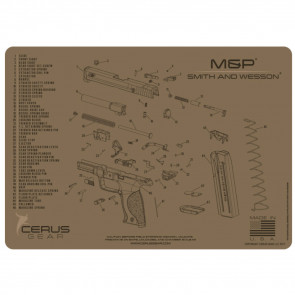 SMITH & WESSON M&P SCHEMATIC HANDGUN PROMAT - COYOTE TAN