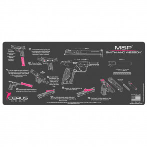 SMITH & WESSON M&P INSTRUCTIONAL PROMAT - CHARCOAL GRAY/PINK