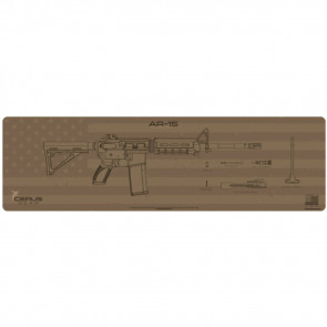 AR-15 SHADOW BOARD MAGNUM XXL PROMAT - COYOTE TAN