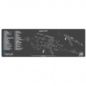 AK-47 SCHEMATIC RIFLE PROMAT - CHARCOAL GRAY/CERUS BLUE