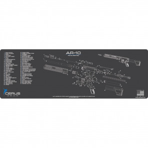 AR-10 SCHEMATIC RIFLE PROMAT - CHARCOAL GRAY/CERUS BLUE