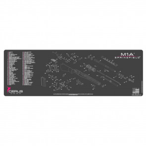 SPRINGFIELD M1A SCHEMATIC RIFLE PROMAT - CHARCOAL GRAY/PINK