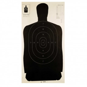 "LE TARGET - POLICE SILHOUETTE B-27, 24"" X 45"", (100 PACK)"