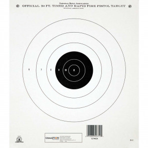 "NRA TARGETS - GB-3 50 FT. TIMED & RAPID FIRE (TRAIN & QUALIFY), 10.5"" X 12"", (12 PACK)"