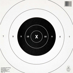 "NRA TARGETS - GB-8(CP) 25 YD. TIMED & RAPID FIRE REPAIR CENTERS, 10.5"" X 10.5"", (12 PACK)"