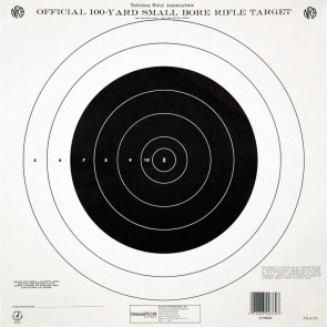 "NRA TARGETS - GTQ-4(P) 100 YD. SINGLE BULLSEYE (TRAIN & QUALIFY), 14"" X 14"", (12 PACK)"