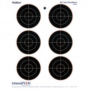 """VISISHOT TARGETS - 6 - 3"""" BULLS (10/PK.) 8.5"""" X 11"""""""