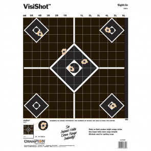 "VISISHOT TARGETS - SIGHT-IN(10/PK.) 13"" X 18"""