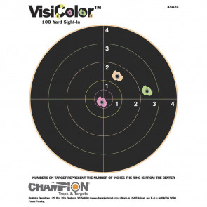 """VISICOLOR HIGH-VISIBILITY PAPER TARGETS - 8"""" BULL"""