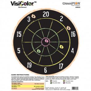 VISICOLOR HIGH-VISIBILITY PAPER TARGETS - DARTBOARD