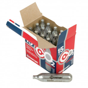 CROSMAN CO2 CARTRIDGES - 15CT