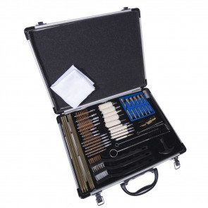GUNMASTER UNIVERSAL SELECT 63 PIECE DELUXE CLEANING KIT IN ALUMINUM CASE WITH HANDLE