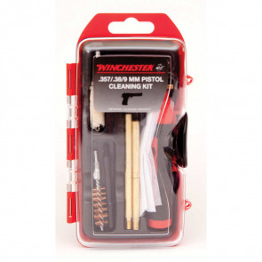 WINCHESTER MINI PISTOL CLEANING KIT - 14 PIECE - 357/38/9MM