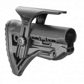 M4/AR15 SHOCK-ABSORBING BUTTSTOCK W/CHEEK REST - MATTE BLACK