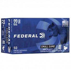 GAME-SHOK® - .22LR - COPPER PLATED SOLID - 40GR - 50RD/BX