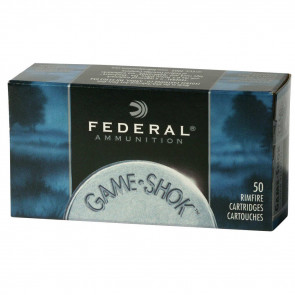 GAME-SHOK .22LR #12 LEAD BIRD SHOT, 25GR 50RD/BX