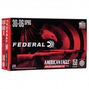 AMERICAN EAGLE® AMMUNITION - .30-06 SPRINGFIELD (7.62X63MM) - FULL METAL JACKET BOAT-TAIL - 150 GRAIN